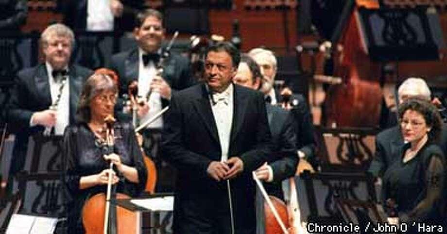 """DSavies Symphony Hall, Israel Philharmonic under direction of """"Zubin Mehta"""".  Photo by.........John O'Hara"""