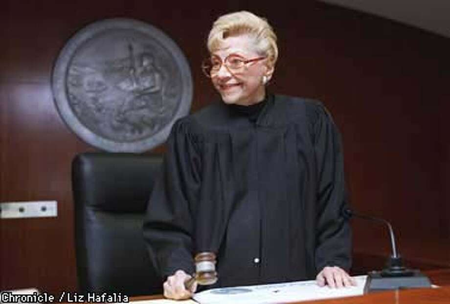 Judge Dorothy von Beroldingen is 82 and for the first time in her 20 years on the bench she will face an opponent in the June election. On Monday, she will file for re-election, and announces she is giving $50,000 to start her campaign. Photo by Liz Hafalia Photo: Liz Hafalia