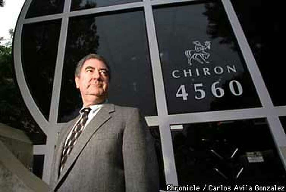 Chiron Corporation's CEO Ed Penhoet, who announced a year ago he was stepping down as the company tries to maintain its mission as an entrepreneurial , science-driven health company. Chiron is still looking for a new CEO. (CHRONICLE PHOTO BY CARLOS AVILA GONZALEZ) Photo: CARLOS AVILA GONZALEZ