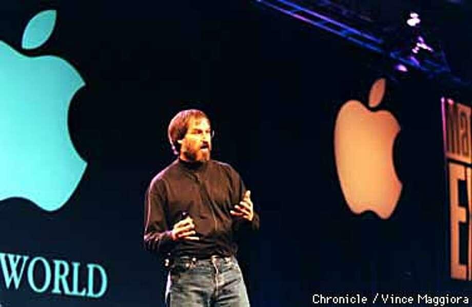 Steve Jobs the keynote speaker at Macworld Expo SF. by Vince Maggiora Photo: VINCE MAGGIORA