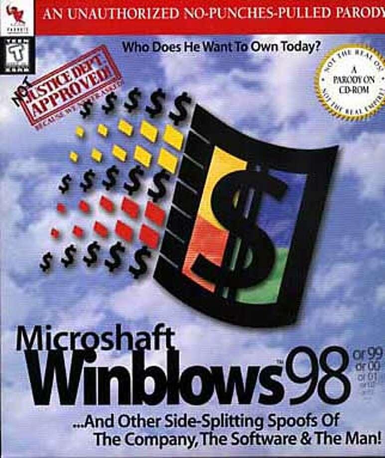 "Microshaft wondblows software parodies  photo by.......""scanned box top"""