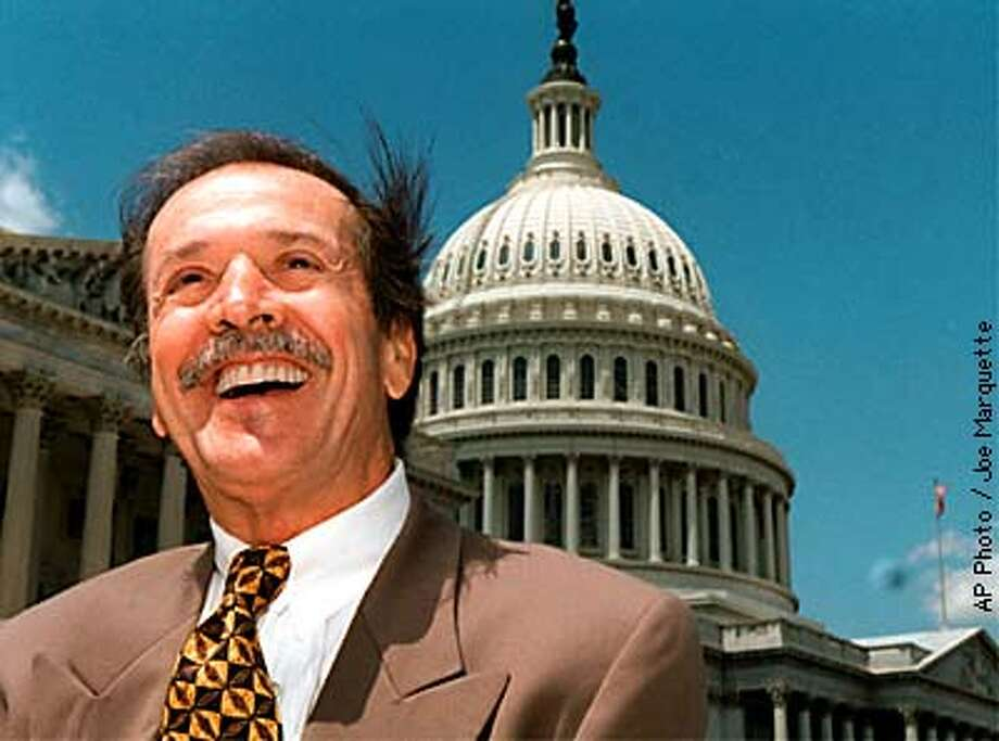 FILE-- Rep. Sonny Bono walks on Capitol Hill Wednesday May 7, 1997. Bono died Jan. 5, 1998 in California after a skiiing accident. (AP Photo/Joe Marquette) Photo: JOE MARQUETTE
