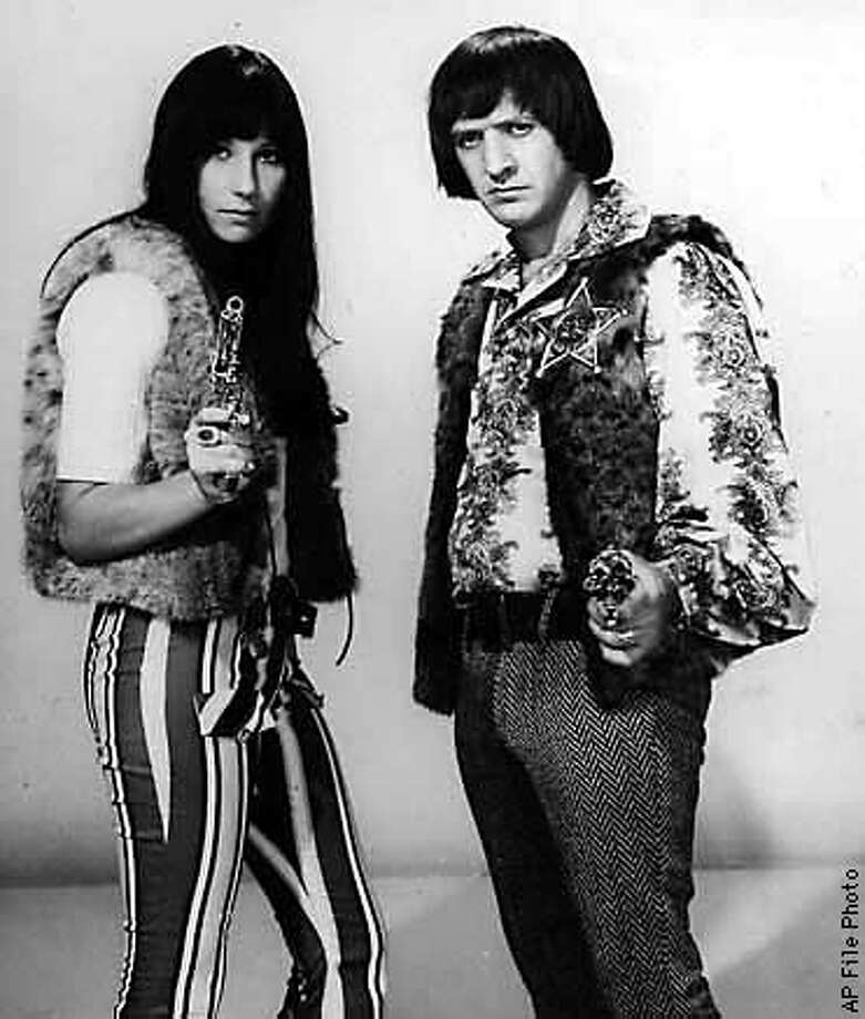 FILE --Sonny and Cher are shown in this May, 1966 file photo. Sonny Bono was killed in an apparent skiing accident in Lake Tahoe, Calif. on Monday, Jan. 5, 1998. He was 62. (AP Photo/file)