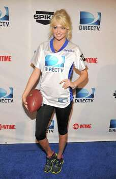 INDIANAPOLIS, IN - FEBRUARY 04:  Model Kate Upton attends DIRECTV's Sixth Annual Celebrity Beach Bowl Game at Victory Field on February 4, 2012 in Indianapolis, Indiana. Photo: Theo Wargo, Getty Images For DirecTV / 2012 Getty Images