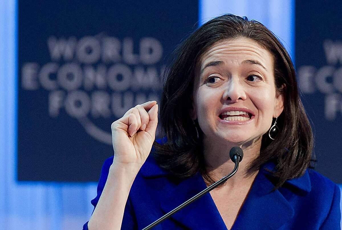 Sheryl Sandberg, Chief Operating Officer Facebook, speaks during a plenary session at the 42nd Annual Meeting of the World Economic Forum, WEF, in Davos, Switzerland, Friday, Jan. 27, 2012. (AP Photo/Keystone/Jean-Christophe Bott)