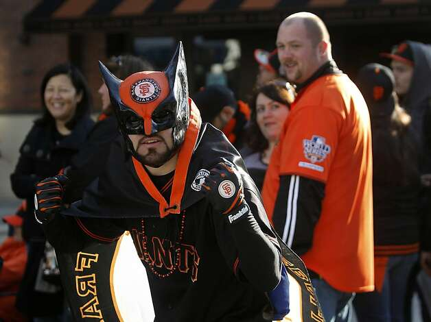 Erik Lopez of Hercules came to the annual Giants FanFest dressed as a Giants superhero at AT&T Park in San Francisco, Calif. on Saturday, Feb. 4, 2012. Photo: Paul Chinn, The Chronicle