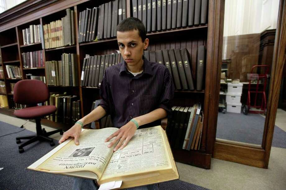 Brown University senior Malcolm Burnley discovered a long-lost tape recording of a 1961 address by Malcolm X. Photo: Associated Press