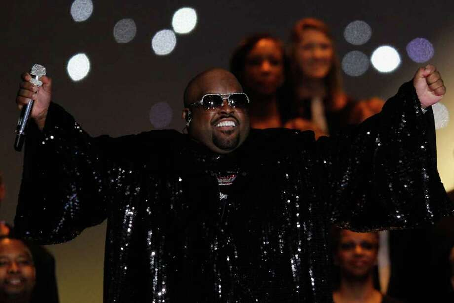 INDIANAPOLIS, IN - FEBRUARY 05:  Singer Cee Lo Green performs during the Bridgestone Super Bowl XLVI Halftime Show at Lucas Oil Stadium on February 5, 2012 in Indianapolis, Indiana. Photo: Rob Carr, Getty Images / 2012 Getty Images