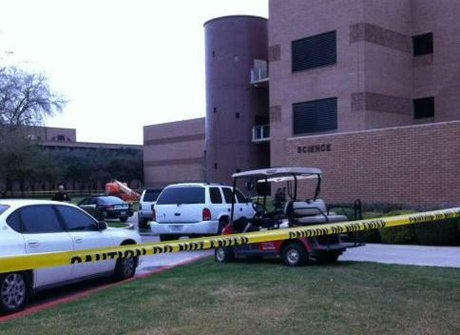 """University of Texas-Pan American and Edinburg police are investigating the """"suspicious"""" death of a female student whose body was found near the campus's Science building, university officials said Monday. Photo: Ana Ley/aley@express-news.net"""