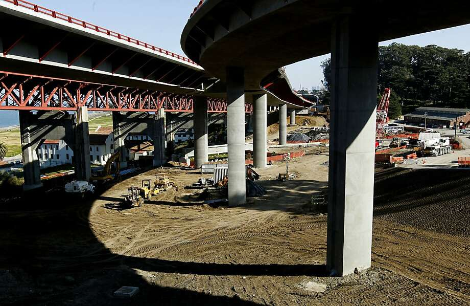 The intersection of Highway 1 and Doyle Drive as the massive construction project continues, in San Francisco, Ca. on Friday Feb. 3, 2012. A look at the financial problems on the Doyle Drive/Presidio Parkway Project. Photo: Michael Macor, SFC