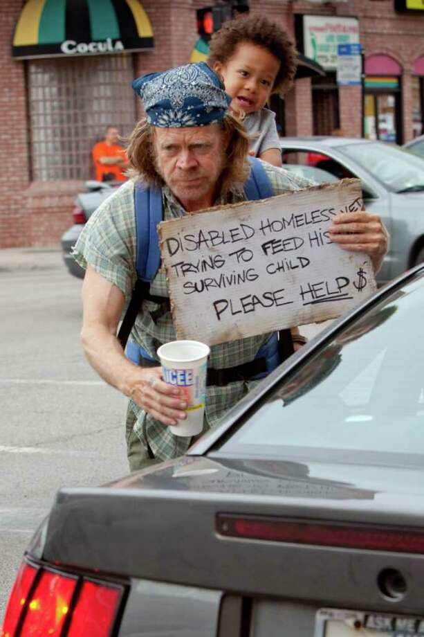 "Frank Gallagher (William H. Macy) fakes being a disabled vet in  ""Shameless."" Photo: Showtime / Copyright: Showtime 2011"