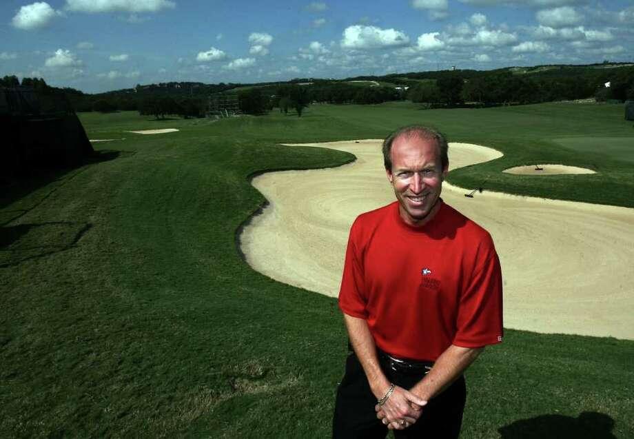 SPTS- Tony Piazzi CEO of the Golf San Antonio at La Cantera near the greens on the course La Cantera Thursday Sept.27.2007. DELCIA LOPEZ/STAFF Photo: DELCIA LOPEZ, SAN ANTONIO EXPRESS-NEWS / SAN ANTONIO EXPRESS-NEWS