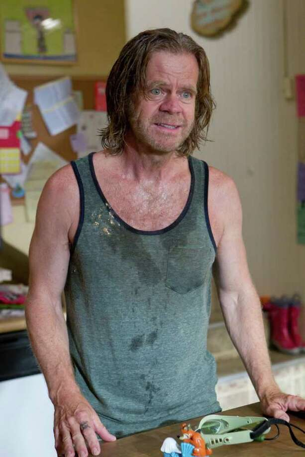 Frank Gallagher (William H. Macy) on Shameless: The no-good raging alcoholic and absentee father is racist, jobless and forever trying to run a scam on anyone in a position of weakness. He has basically abandoned his six kids, which may be the best thing he?s done for them. / Copyright: Showtime 2012