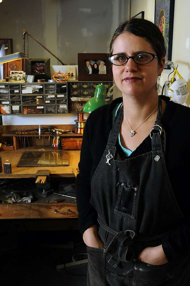 Aimee Golant, a sixth-generation metalsmith and jeweler, is part of a collective of Jewish women artist who created the Women's Torah Project. The Torah is the first known to be scribed entirely by women. Photo: Erik Verduzco, Special To The Chronicle