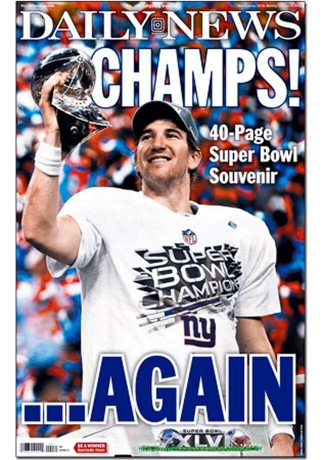 Super Bowl front page