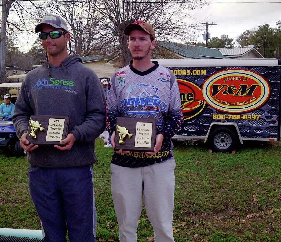 Championship winners Brian Shook and Danny Iles.  These young anglers had an awesome 2 day total weight of 49.30 lbs!