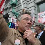 An opponent of Proposition 8, California's anti-gay marriage bill, cries as he celebrates outside of the Ninth U.S. Circuit Court of Appeals on February 7, 2012 in San Francisco, California. A three-judge panel of the 9th U.S. Circuit Court of Appeals ruled that the voter-approved Proposition 8 measure violates the civil rights of gay men and lesbians.