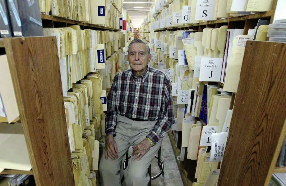 Arthur Gurwitz, owner of Southern Music Co., is seen in the retail area of the 30,000-square-foot building on Tuesday, Feb. 7, 2012. The store is going out of business after 75 years in San Antonio. Photo: Kin Man Hui, San Antonio Express-News / San Antonio Express-News