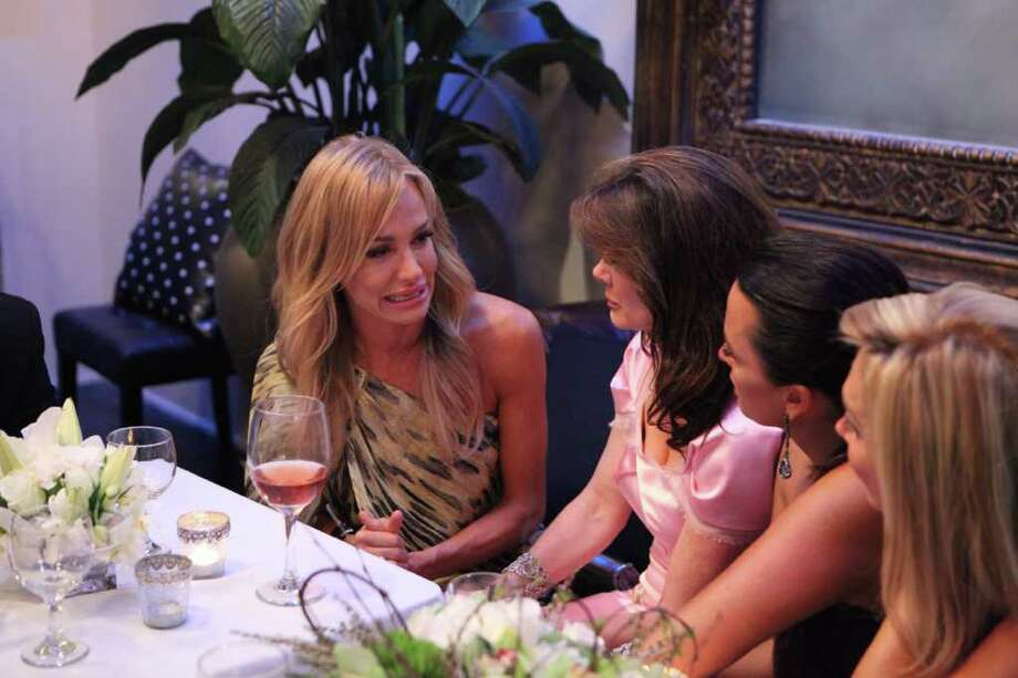 "THE REAL HOUSEWIVES OF BEVERLY HILLS -- Episode 219 ""Night of a Thousand Surprises"" -- Pictured: (l-r) Taylor Armstrong, Lisa Vanderpump, Kyle Richards, Adrienne Maloof -- Photo by: Evans Vestal Ward/Bravo Photo: Evans Vestal Ward / © Bravo"
