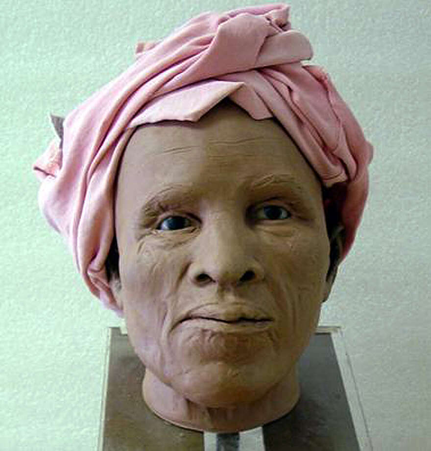 Reconstructed face of a woman, 50-60 years old, by Gay Malin of the State Museum. The remains of 18th-century slaves were uncovered in 2005 at the Schuyler Flatts burial ground in Menands. (State Museum photo/Times Union archive)