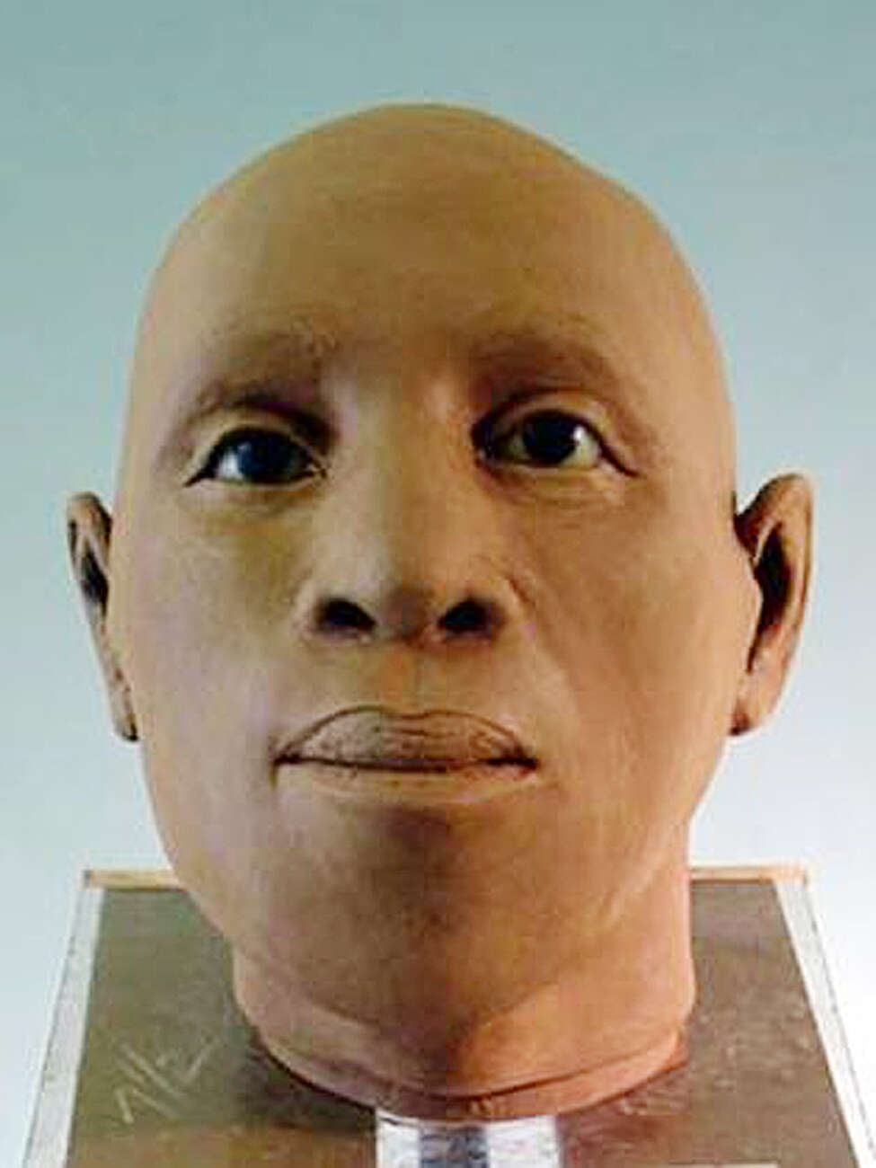 Reconstructed face of a woman, 25-35 years old, by Gay Malin of the State Museum. The remains of 18th-century slaves were uncovered in 2005 at the Schuyler Flatts burial ground in Menands. (State Museum photo/Times Union archive)