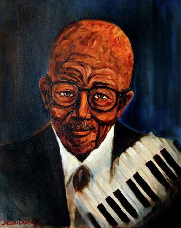 """Eubie Blake - Jazz Pianist,"" by Jacqui Dorsey, is owned by former Mayor Lila Cockrell. She has over the years built an impressive collection of art by local and regional artists. Photo: Express-News File Photo / nfruge@express-news.net"