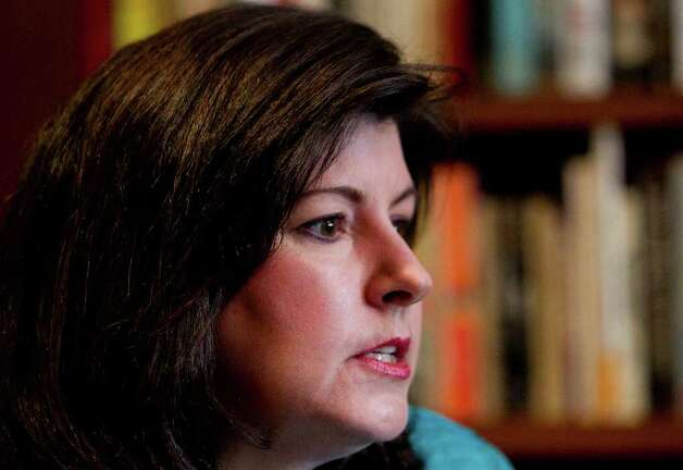 Karen Handel speaks during an interview in Atlanta Tuesday,  Feb. 7, 2012. Handel announced earlier her resignation as vice president for public policy for Susan G. Komen for the Cure breast-cancer charity.  (AP Photo/John Bazemore) Photo: John Bazemore