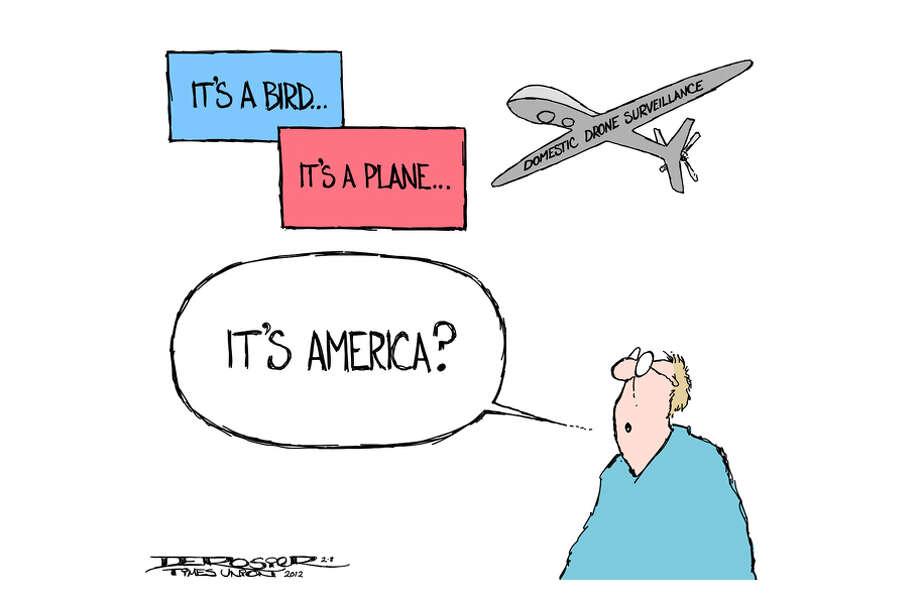 Drone surveillance a domestic possibility. Photo: John De Rosier / drone, sureveillance, privacy