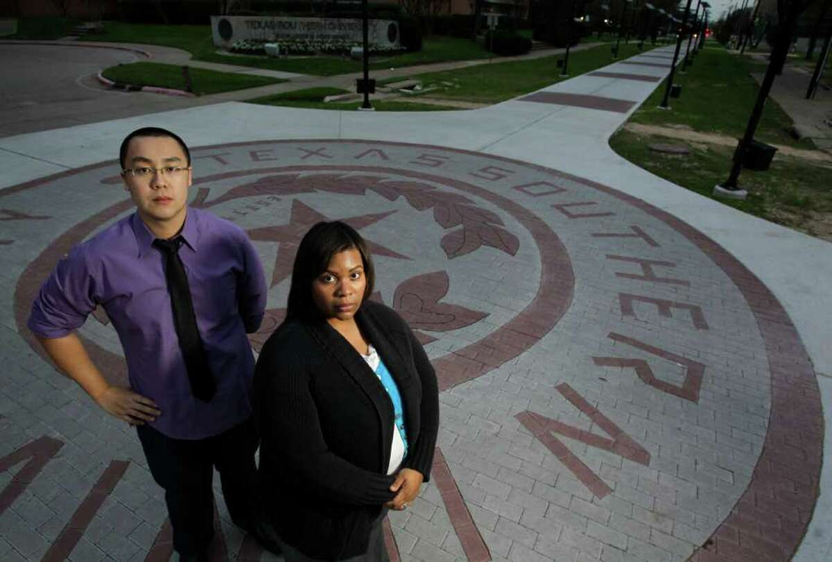 Jonathan Chan and Karla Ford contend their D grades in a contract law class at Texas Southern University's law school were given arbitrarily. Both were dismissed from the law school.