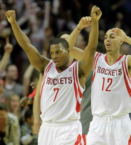 Guards Kyle Lowry (7) and Kevin Martin are the Rockets' best candidates for the NBA's Western Conference All-Star team, but they face plenty of competition. Photo: Melissa Phillip / © 2011 Houston Chronicle