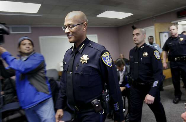 Police Chief Howard Jordan (left) entered the press conference followed by members of his command staff. Oakland Police Chief Howard Jordan held a press conference with members of the community to talk about the recent rash of violence in the city Tuesday February 7, 2012. Photo: Brant Ward, The Chronicle