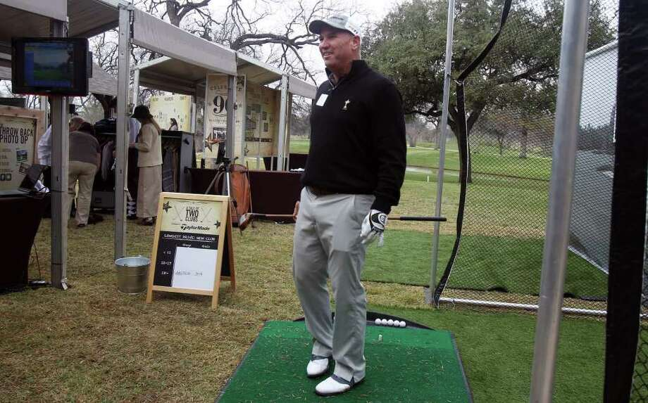 Two-time Texas Open winner Duffy Waldorf is on hand at Brackenridge on Tuesday to celebrate the 90th anniversary of the event. Photo: Express-News