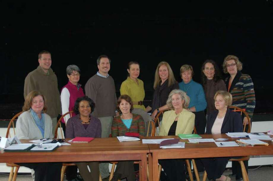 :  Members of the planning committee for the ìPower Struggleî forum recently met to finalize plans.  Representing multiple tree conservation groups and several Fairfield County Leagues of Women Voters, the group includes Toddy Turrentine (front row, center) of the New Canaan League. Photo: Contributed Photo