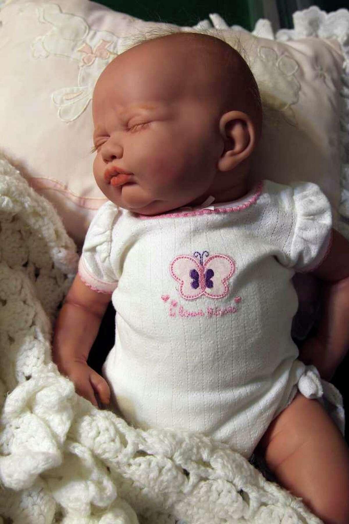 "A ""reborn"" doll transformed by Tanya Sada looks like a real baby."