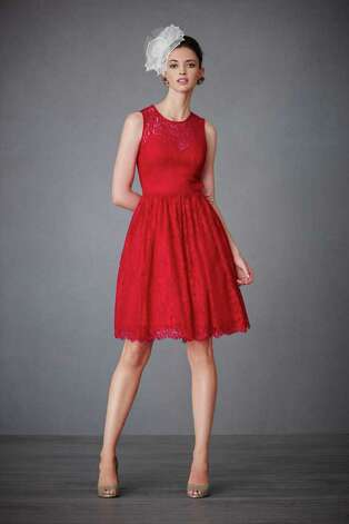 The Crimson Lace Dress $375; black tie dress, $465; Tiered twirler dress, $465. All from BHLDN,  a bridal/party boutique in Highland Village or at bhldn.com Photo: BHLDN