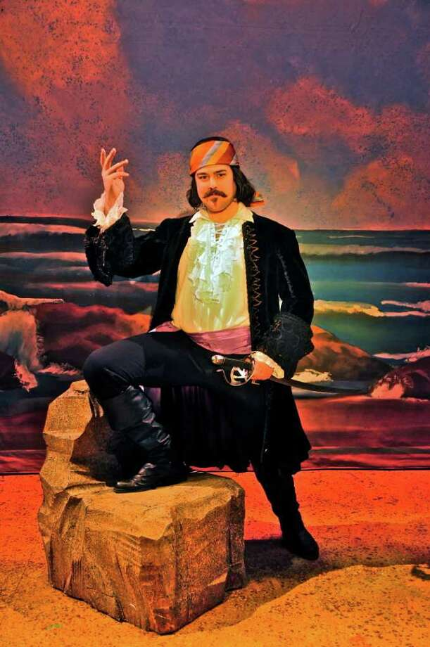 Jesse Coleman as the Pirate King in ''The Pirates of Penzance? at Cohoes Music Hall. THERESA M. THIBODEAU photo