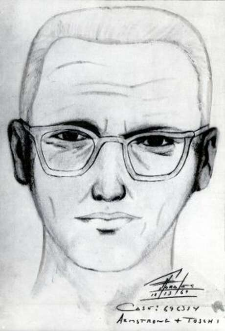 This is a 1969 police sketch of the 'Zodiac Killer.' The famous case, centered on seven killings around the Bay Area, remains unsolved.  (San Francisco Chronicle / File)