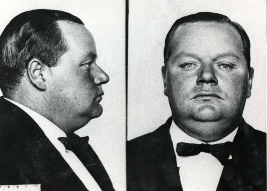 Roscoe 'Fatty' Arbuckle was a silent film star accused of raping and killing an actress at San Francisco's St. Francis Hotel in 1921. Arbuckle endured three trials and was acquitted at the third trial, but his career never recovered. (San Francisco Chronicle / File)