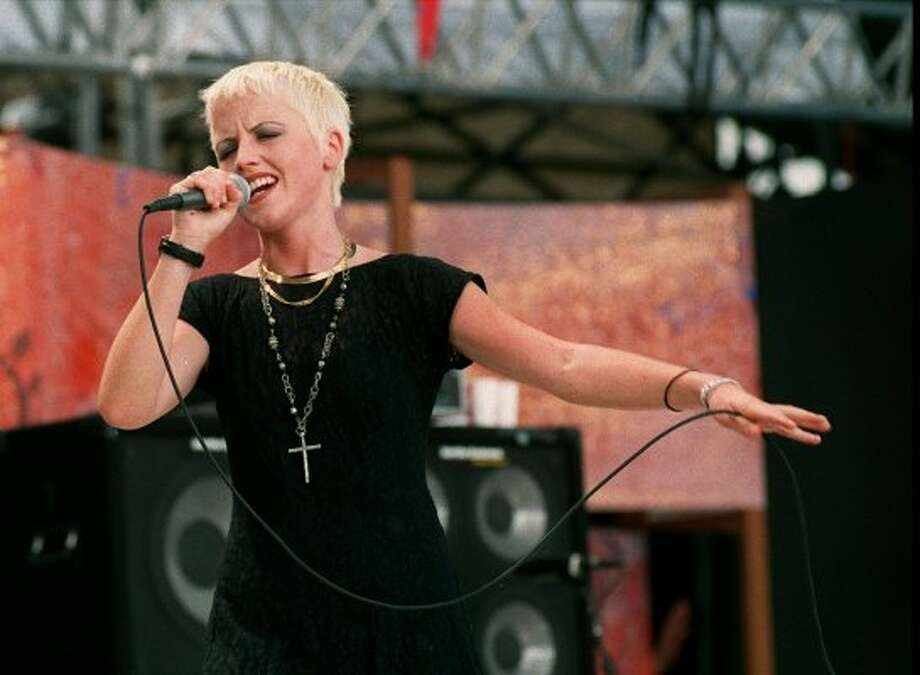 Dolores O'Riordan of the Cranberries performs onstage in this undated photo. Monday, her publicist announced she had died at the age of 46.