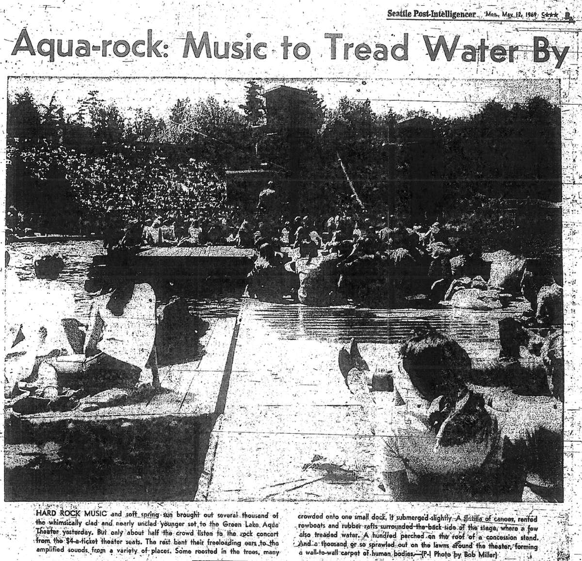 Get this: Led Zeppelin once played at Green Lake and the tickets were $4. Dozens of others listened from nearby areas or got rowboats and checked out the show from the water. The show was at the Aqua Theatre, which was built in 1950 as part of the first Seafair. The theatre was is disrepair when Led Zeppelin played there and it was dismantled in the 1970s. Today, one section of the former theatre remains. Led Zeppelin also played at Woodinville's Gold Creek Park on July 27, 1969. Read more about the Green Lake show here from Historylink.org's Peter Blecha.