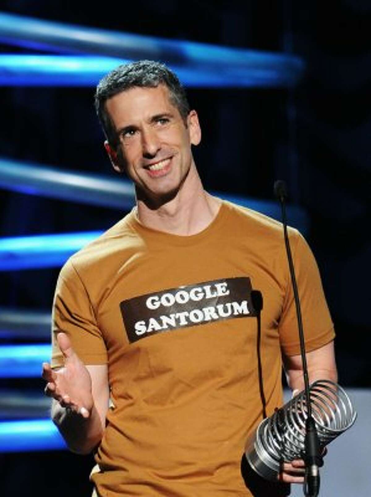 Dan Savage writes a sex advice column for The Stranger, and has mercilessly baited anti-gay politicians, from religious-right presidential candidate Gary Bauer more than a decade ago to ex-Sen. Rick Santorum.