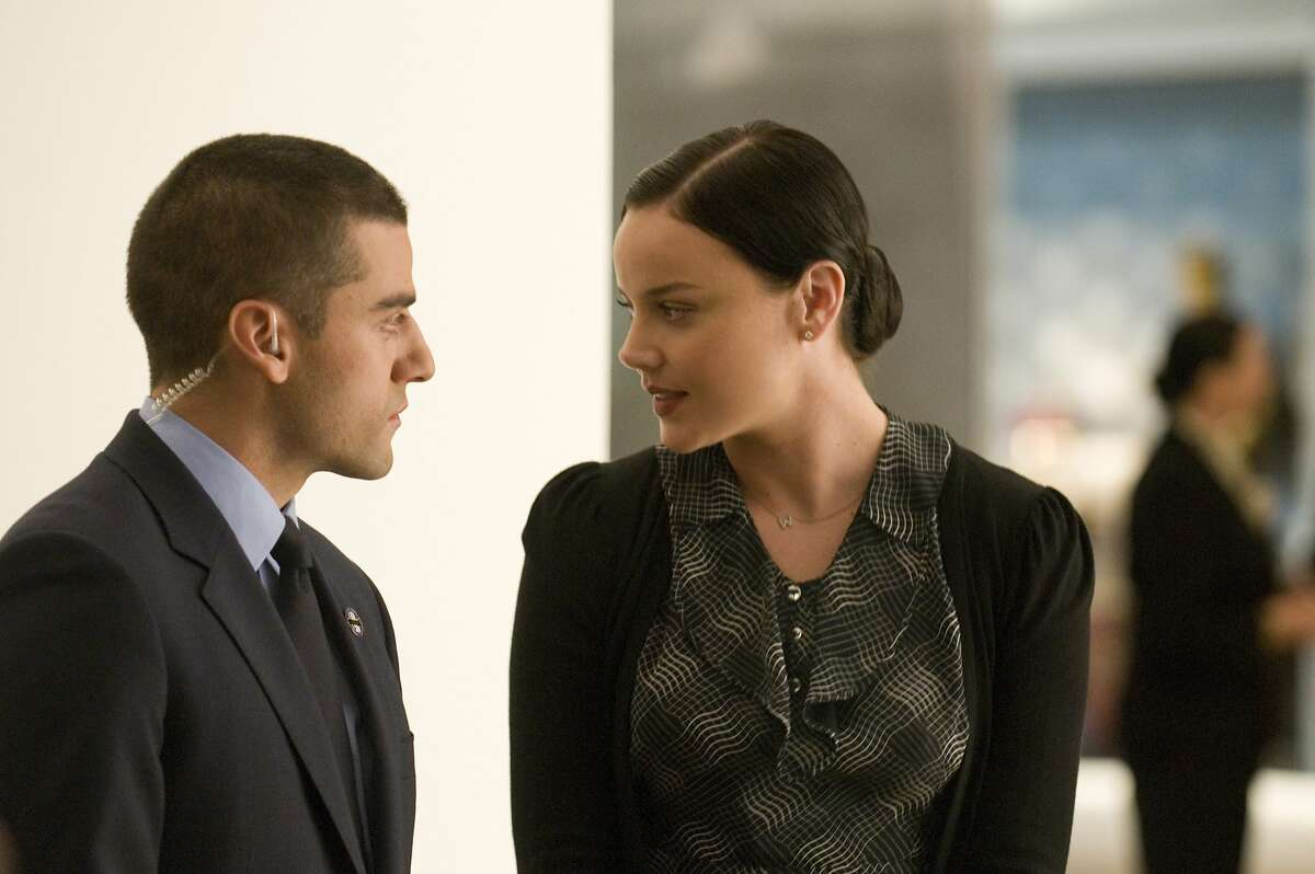 """In this film image released by The Weinstein Company, Oscar Isaac, left, and Abbie Cornish are shown in a scene from """"W.E."""" (AP Photo/The Weinstein Company, Ken Regan)"""