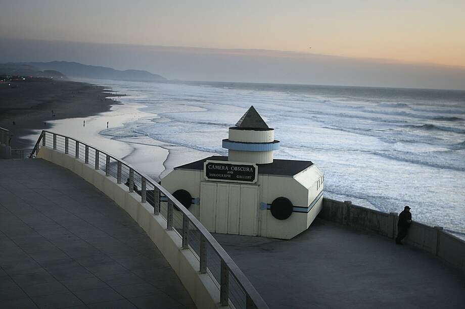 The camera obscura on a deck of the Cliff house in San Francisco, Calif.,  on Thursday, November 10, 2011.  It is currently owned by the National Park Service as part of the Golden Gate National Recreation Area and has remained unchanged since 1946. Photo: Liz Hafalia, The Chronicle