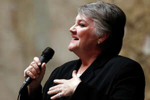 Rep. Maureen Walsh, R-Walla Walla, speaks during a debate before a House vote on gay marriage Wednesday, Feb. 8, 2012, in Olympia, Wash. Lawmakers voted to legalize gay marriage in Washington state, making it the seventh state in the nation to allow same-sex couples to wed. The action comes a day after a federal appeals court declared California's ban on same-sex marriage unconstitutional, saying it was a violation of the civil rights of gay and lesbian couples. Democratic Gov. Chris Gregoire is likely to sign the bill next week.