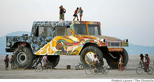 A huge art car, built for display not to drive, was exhibited on the playa of the 2008 Burning Man. Photo: Frederic Larson, The Chronicle