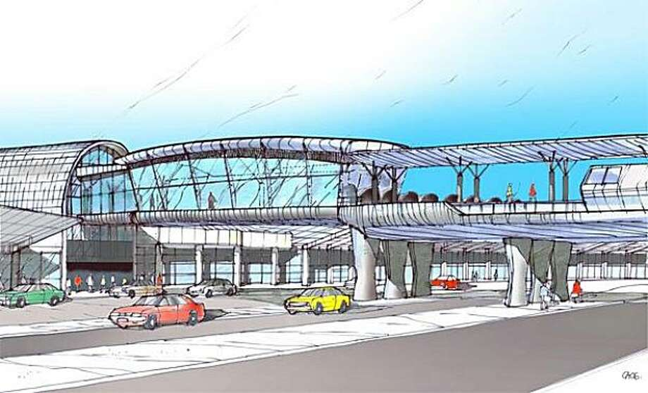 Oakland Airport connector rendering. Photo: Courtesy, BART
