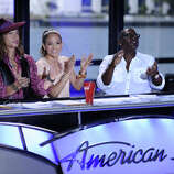 AMERICAN IDOL: L-R: Steven Tyler, Jennifer Lopez and Randy Jackson on AMERICAN IDOL airing Wednesday, Jan. 18 (8:00-10:00 PM ET/PT) on FOX. CR: Michael Becker / FOX.. CR: Michael Becker / FOX.