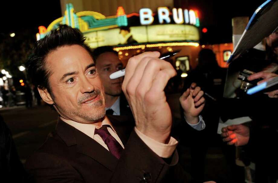 Robert Downey Jr. and his wife, Susan, named their infant son Exton Elias, (AP Photo archive/Chris Pizzello) Photo: Chris Pizzello / AP
