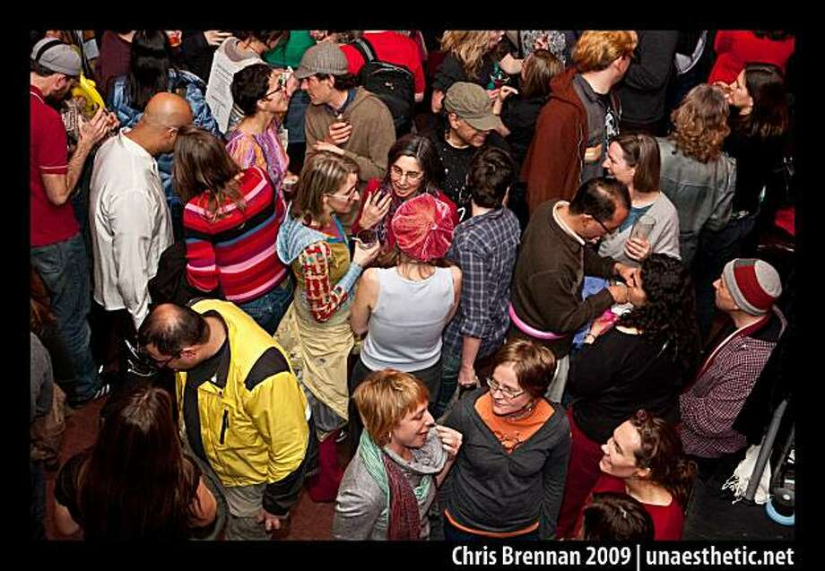 The bike loving crowd mingles at last year's Love on Wheels event. Photo: Chris Brennan