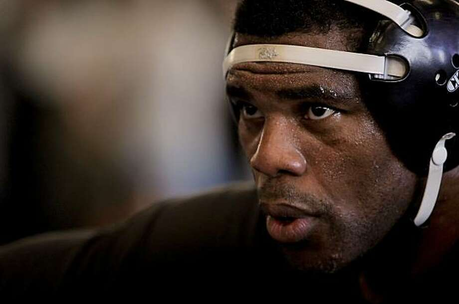 Former NFL football star, Herschel Walker,  during a workout at the American Kickboxing Academy,  in San Jose, Calif., on Wednesday, January 19, 2011, as he prepares for his upcoming mixed martial arts fight. Photo: Michael Macor, The Chronicle